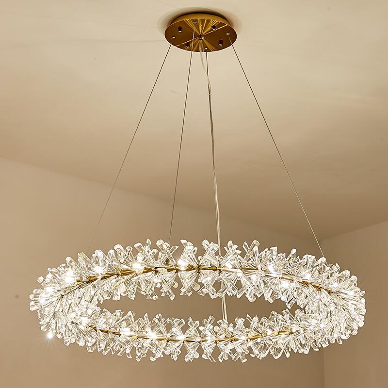 Современная роскошная хрустальная люстра для гостиной, скандинавский отель, ресторан, Светодиодный Люстра, золотой индивидуальный дизайн