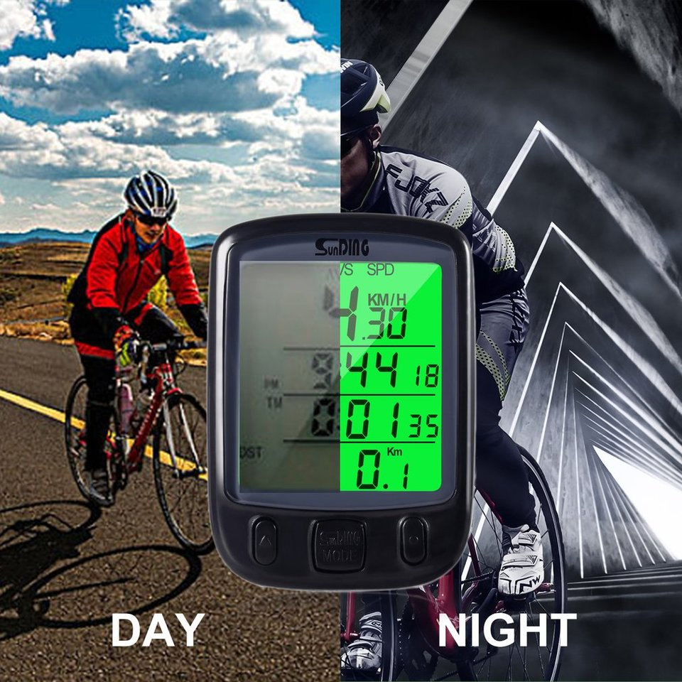 Bicycle Speedometer Wired Waterproof Cycle Bike and Odometer with LC