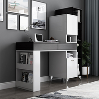 Rama Dymasty Fashion Design Computer Office Desk With Book Shelves Home Desk Commercial Furniture