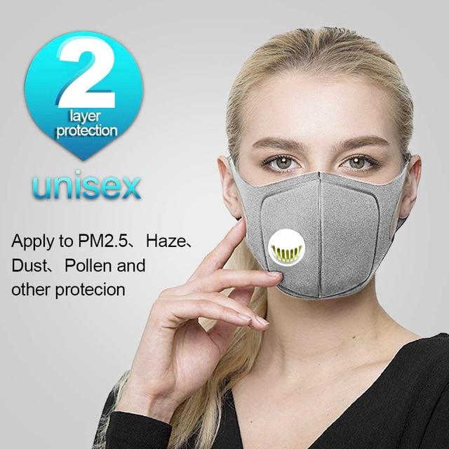 Respirator   Mask  with Breath Valve Anti-Dust Anti Pollution , anti-pollution, , anti-saliva 1
