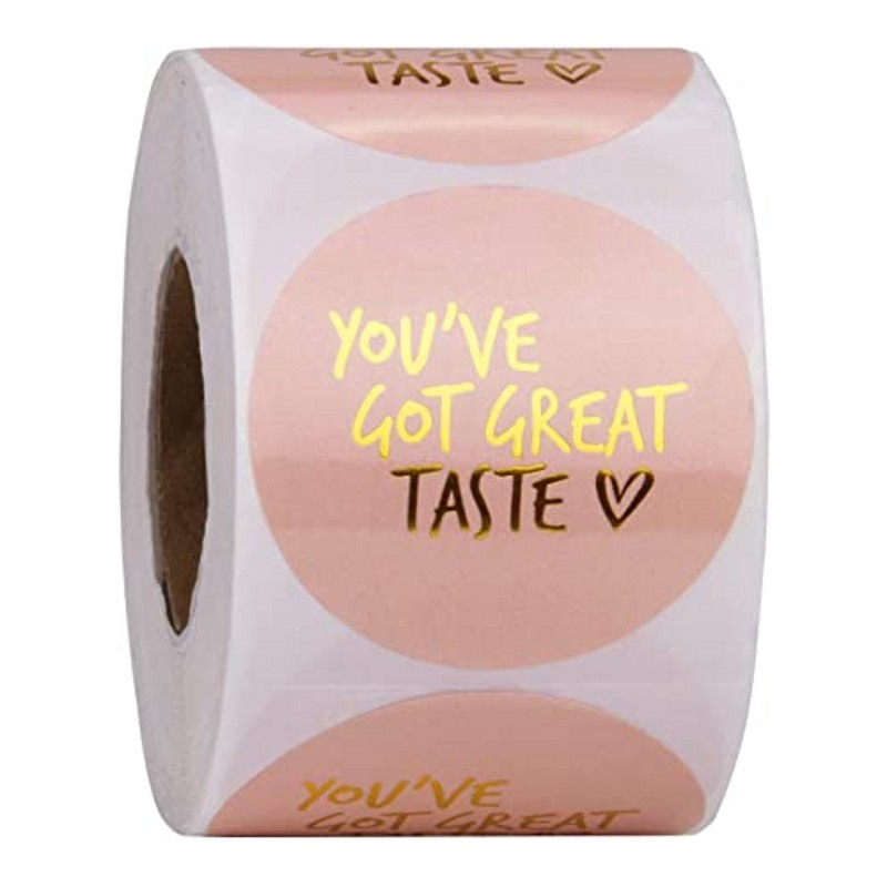 You've Got Great Taste Stickers 1inch 500pcs Paper Thank You Stickers Seal Labels Gold Business Packing Label Stationery Sticker