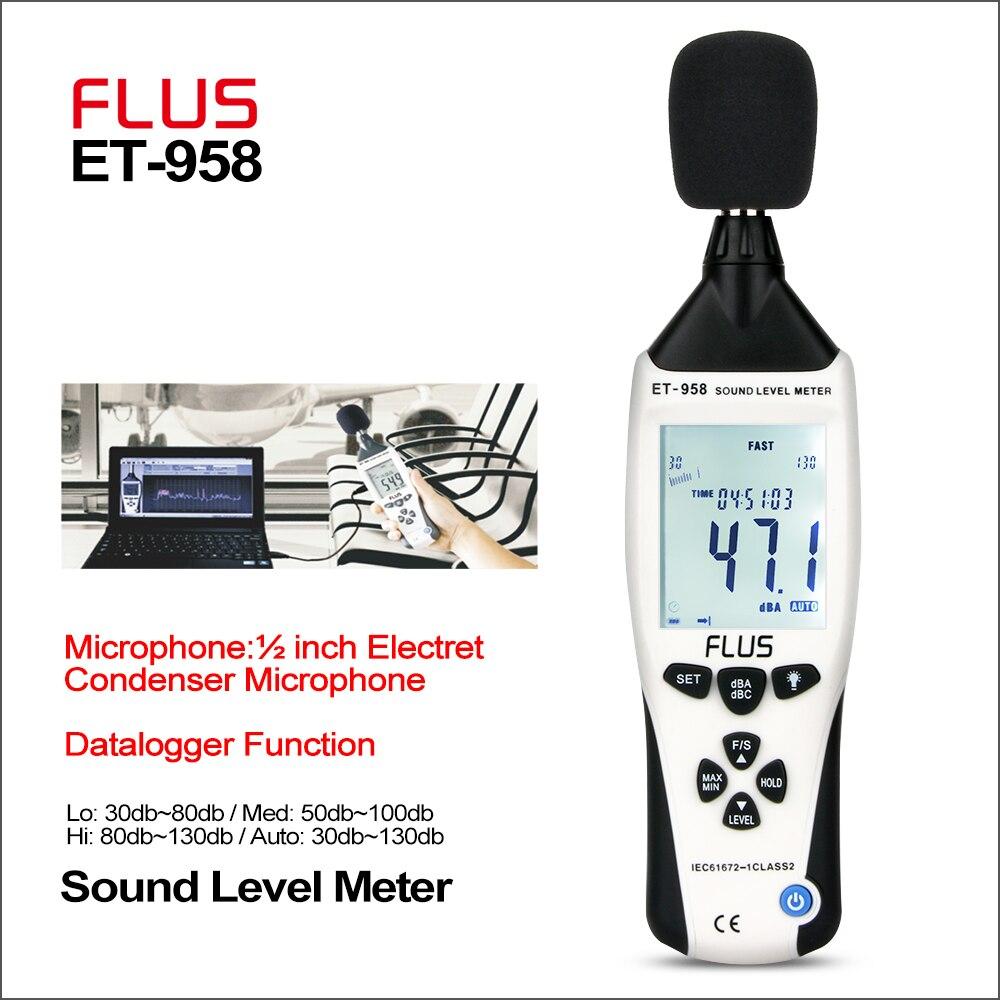 Флус измерители уровня звука регистратор цифровой профессиональный измеритель уровня звука Sonometros уровень шума аудио 30 130дб измеритель дец
