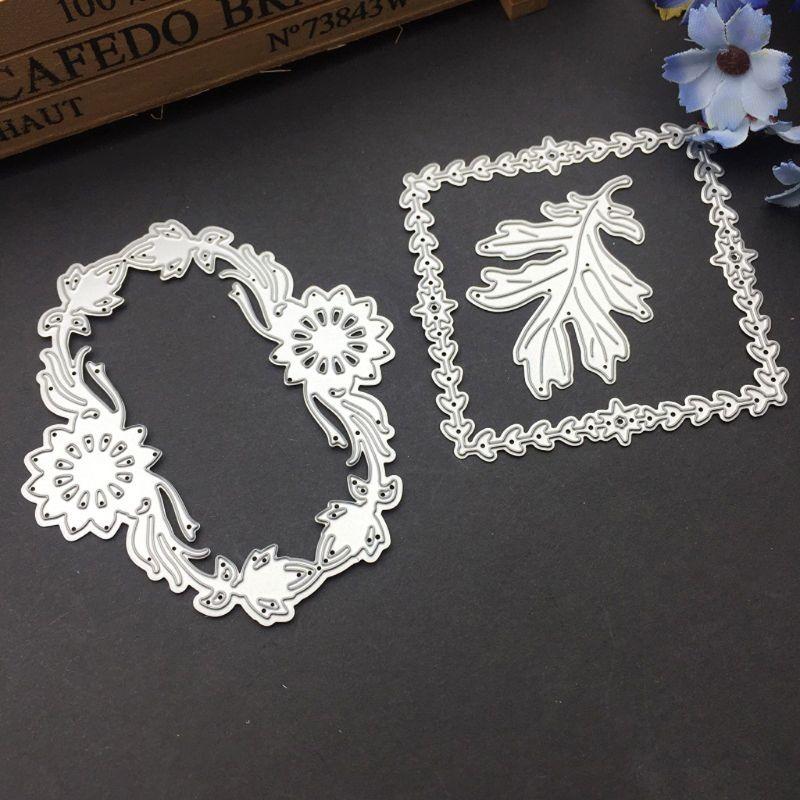 DIY Scrapbooking Leaf Cover Metal Cutting Dies Stencil Embossing Crafts Decor