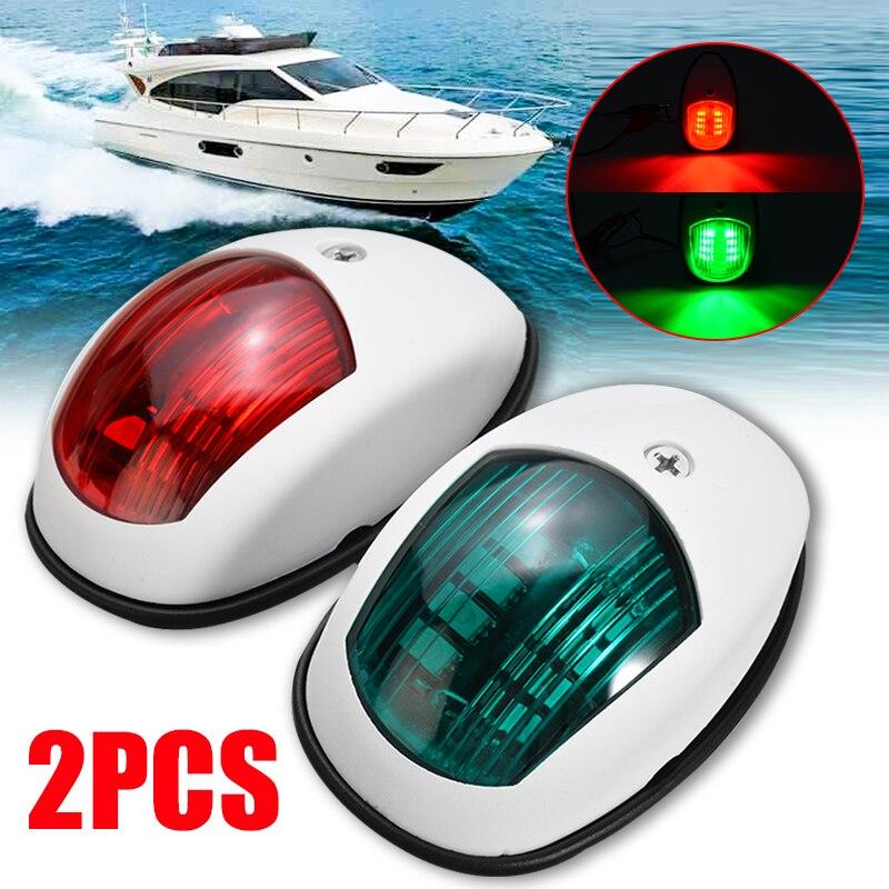 2 pièces lampe universelle de lumière de Navigation pour bateau marin Yacht LED ampoule rouge/vert logement ABS plastique Signal lumineux 10 V-30 V