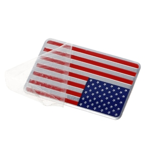 Image 4 - NoEnName_Null Metal American US Flag Car Sticker Logo Emblem Badge For Jeep Bmw Fiat VW Ford