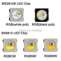 10 1000 stücke WS2812B RGB LED Chip 5050 SMD Schwarz/Weiß PCB SK6812 RGBCW RGBNW RGBWW Einzeln Adressierbaren chip Pixel 5V-in LED-Streifen aus Licht & Beleuchtung bei