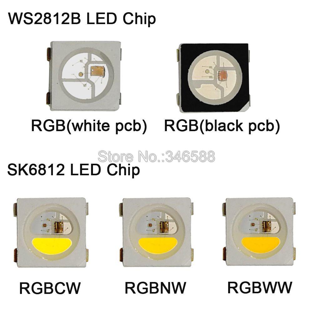 10-1000 шт. WS2812B RGB светодиодный чип 5050 SMD черный/белый PCB SK6812 RGBCW RGBNW RGBWW индивидуально адресуемый чип пикселей 5 В