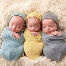 Baby Photography Props Blanket Wraps Stretch Knit Wrap Newborn Photo Wraps Hammock Swaddling Padding Wrap
