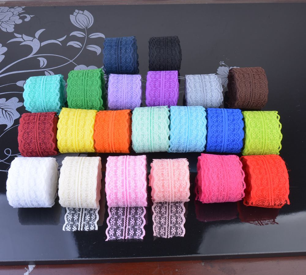 21 цвет 10 м (45 мм) кружевная лента двойная ручная вышивальная сетчатая Кружева отделка ткани ленточный пошив аксессуары для юбки