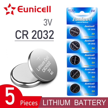 Eunicell 5pcs 2021 New 210mAh CR2032 CR 2032 Cell Coin Button Batteries KCR2032 5004LC ECR2032 3V Lithium Battery For Watch Toy image
