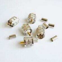 10X UHF erkek PL259 takılabilir kablo ucu için RG 8X RG8X LMR240 kablo konektörü