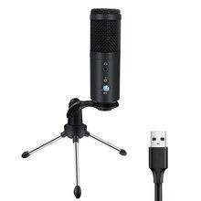 Computador usb d90 microfone com adaptador de fone de ouvido ouvir voz uma vez usb microfon cantando asmr mic para pc laptop streaming ao vivo