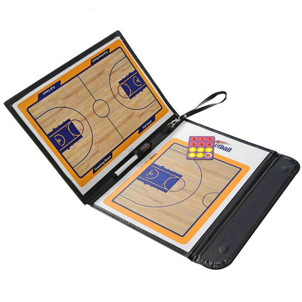 Professional Basketball Coaching Board Double-sided Coaches Clipboard With Marker 24 Magnets Basketball Tactical Board