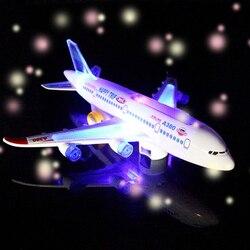 Dzieci szybowiec zabawki samoloty elektryczne oświetlenie do zastosowań muzycznych automatyczny samolot sterujący samolot pasażerski model samolotu zabawki dzieciak zabawki do zabawy na zewnątrz gry