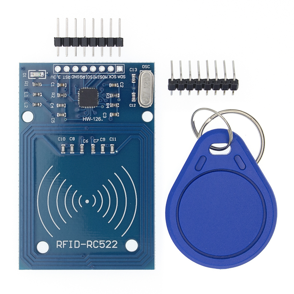 Image 4 - 50pcs TENSTAR ROBOT RFID module RC522 Kits S50 13.56 Mhz 6cm With Tags SPI Write & Read-in Integrated Circuits from Electronic Components & Supplies