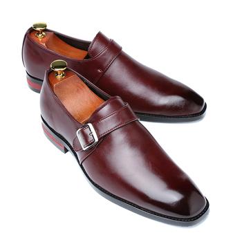 2020 mężczyźni ubierają buty projektant biuro biznes klamra mokasyny buty oksfordy w stylu casual męskie płaskie buty skórzane Party tanie i dobre opinie DXKZMCM Derby buty Pasek klamra Wiosna jesień Stałe Szpiczasty nosek Dla dorosłych Pasuje prawda na wymiar weź swój normalny rozmiar