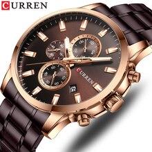CURREN Top Watch Men Brand Quartz Luxury Fashion Mens Watches Steel Waterproof Sports Chronograph Wrist Relogio Masculino