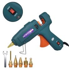 цена на Hot Glue Gun 60/100W Dual Power High Temperature Melt Glue Gun  Household, Use 11mm Glue Sticks with 5 pcs Nozzle