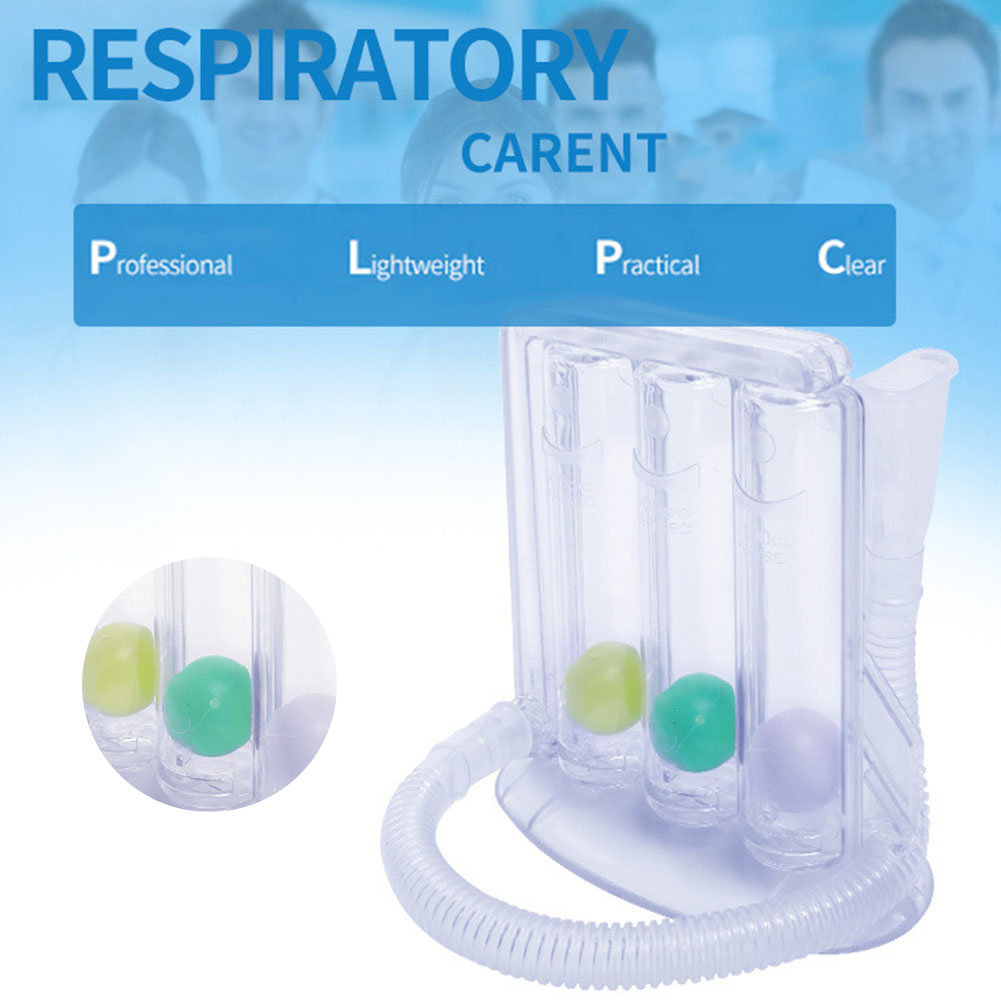 New Three-ball Apparatus Vital Capacity Breathing Trainer Incentive Spirometer Lung Breathing Exerciser Rehabilitation Training