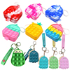 New Mini Small Pencil Case Simple Dimple Sensory Silicone Pops Its Push Bubble Stationery Storage Bag Popsits Antistress Popet