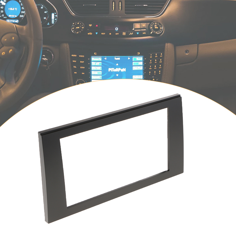 รถสเตอริโอวิทยุแผง 2 DIN สำหรับ Audi A4 B6 B7 SEAT Exeo ติดตั้งวิทยุคุณภาพสูง ABS สีดำ