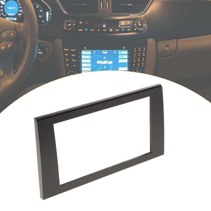 カーステレオラジオ筋膜パネルトリム 2 Din フレームアウディ A4 B6 B7 シート Exeo ラジオインストール高品質 ABS 黒