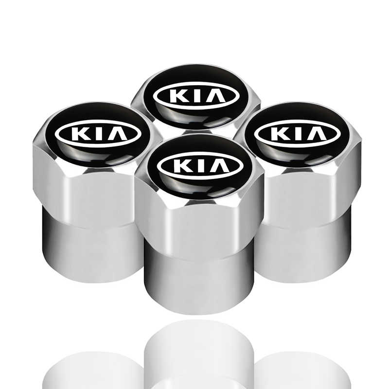 4 PCS רכב תג גלגל הצמיגים Valve כובע צמיג אבק שווי עבור KIA K2 K3 K5 סורנטו Sportage R ריו נשמת כובע רכב סטיילינג אביזרי רכב