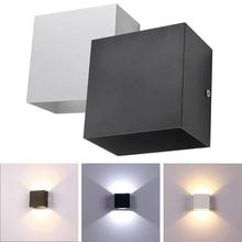Cube COB светодиодный настенный светильник для помещений, современное домашнее освещение, декоративное бра, алюминиевая лампа 10 Вт 85-265 в для ванной, коридора