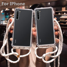 Strap Cord Chain Tape Necklace Lanyard Mobile Phone Case For Carry Cover to Hang For iPhone 11 Pro Max XS Max XR X 7 8 6 6s Plus(China)