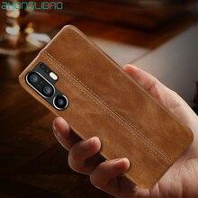 Splice Case dla Huawei P30 P20 Mate 20 10 9 20X Pro Lite P10plus MateRS 20X5G luksusowe szwy szwy prawdziwej skóry tylna okładka