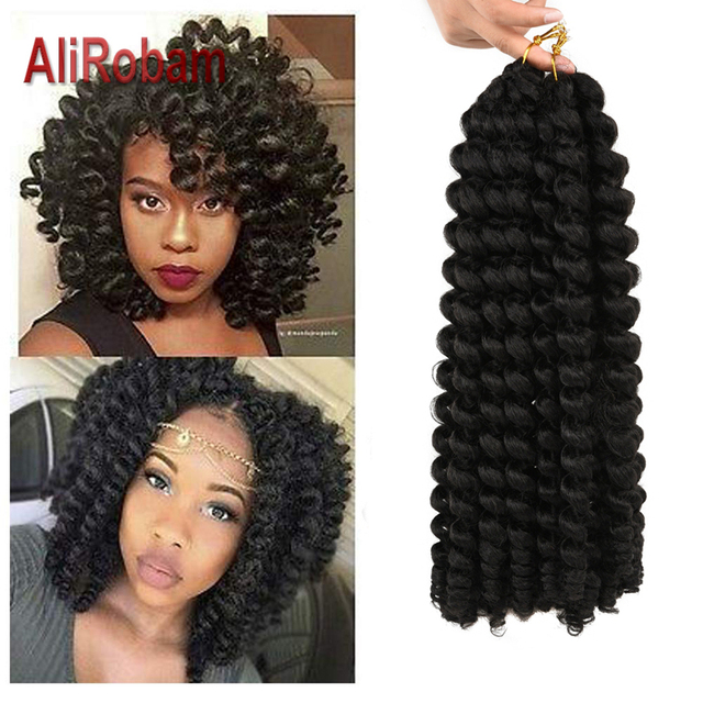 Bacchetta ricciolo trecce alluncinetto corti capelli di rimbalzo giamaicano bacchetta nera ricciolo donna trecce sintetiche estensioni dei capelli 20 radici/confezione