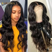 Perruque Lace Closure Wig Remy brésilienne naturelle-Body Wave | 4x4, pre-plucked, avec Baby Hair, perruque Lace Closure Wig(China)