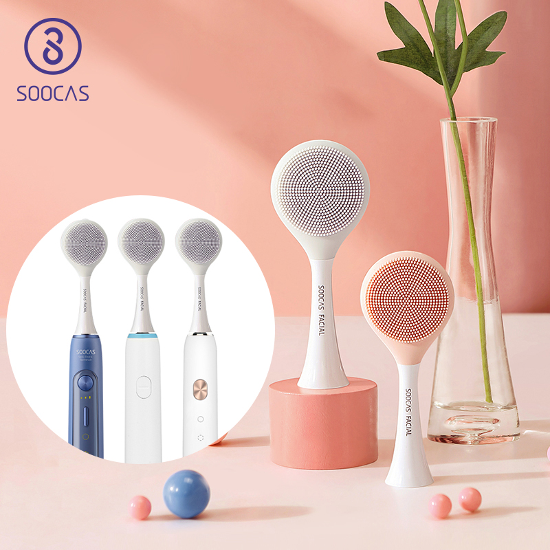 SOOCAS Facial Cleansing Brush Head For Soocas X1 X3 X3U X5 Sonic Electric Toothbrush SOOCARE Electric Massage Brush