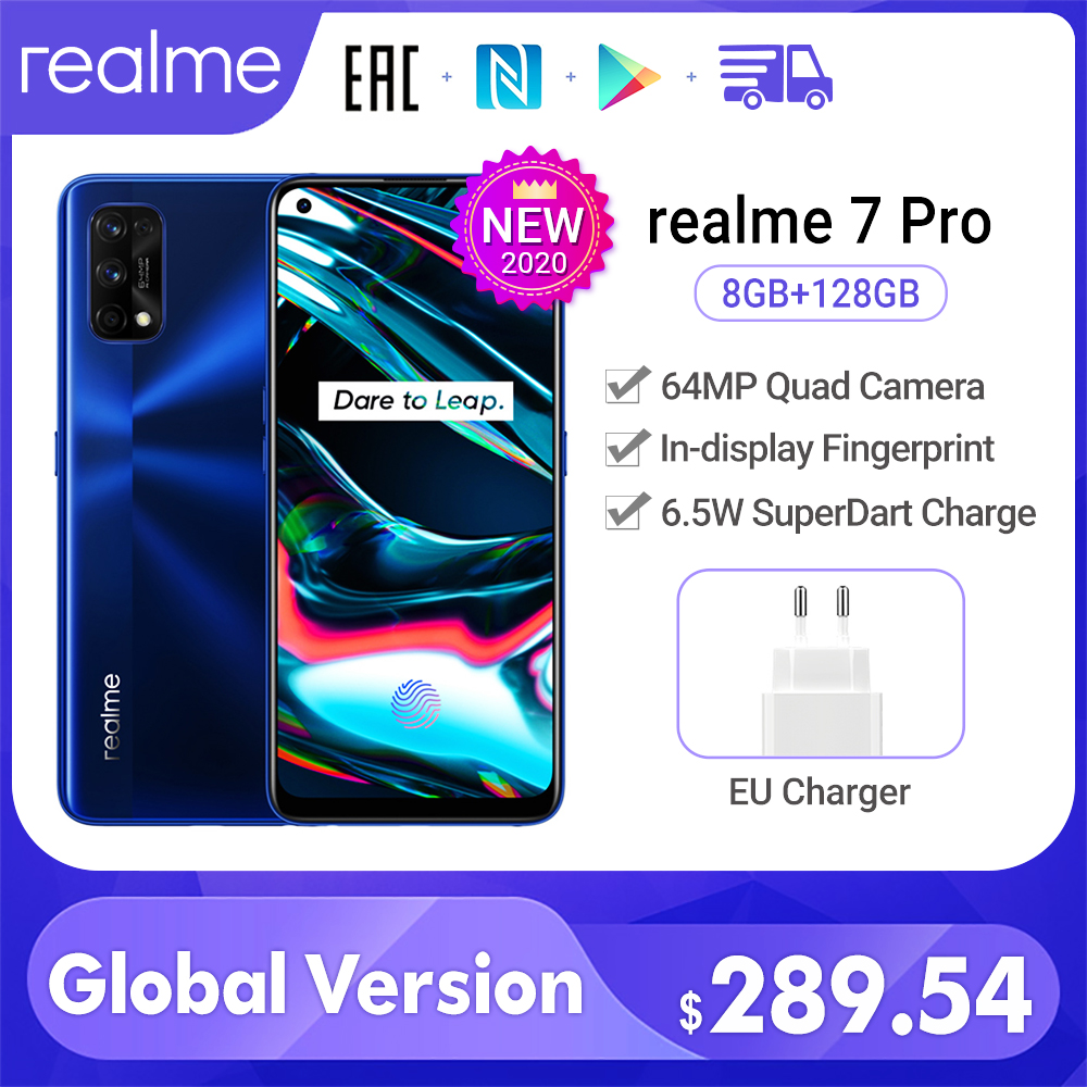 Realme 7 Pro глобальная Версия 8 Гб 128 ГБ 65 Вт SuperDart Charge 64 мегапиксельная четырехъядерная камера AMOLED полноэкранный дисплей с отпечатком пальца|Смартфоны|   | АлиЭкспресс