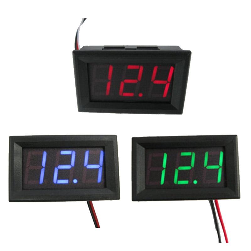 Мини цифровой вольтметр Амперметр DC0-100v Панель вольтметр измеритель тока тестер с 2/3 провода светодиодный цифровой дисплей 5.6In
