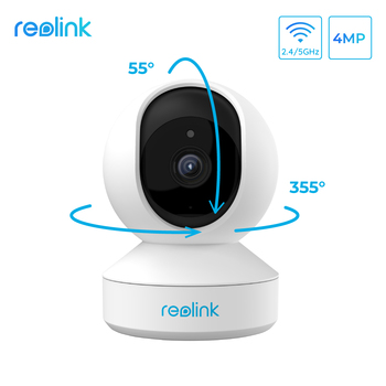Reolink 4MP home security ip camera 2.4G/5G WiFi Pan&Tilt listen&talk SD card slot indoor Surveillance Camera E1 Pro