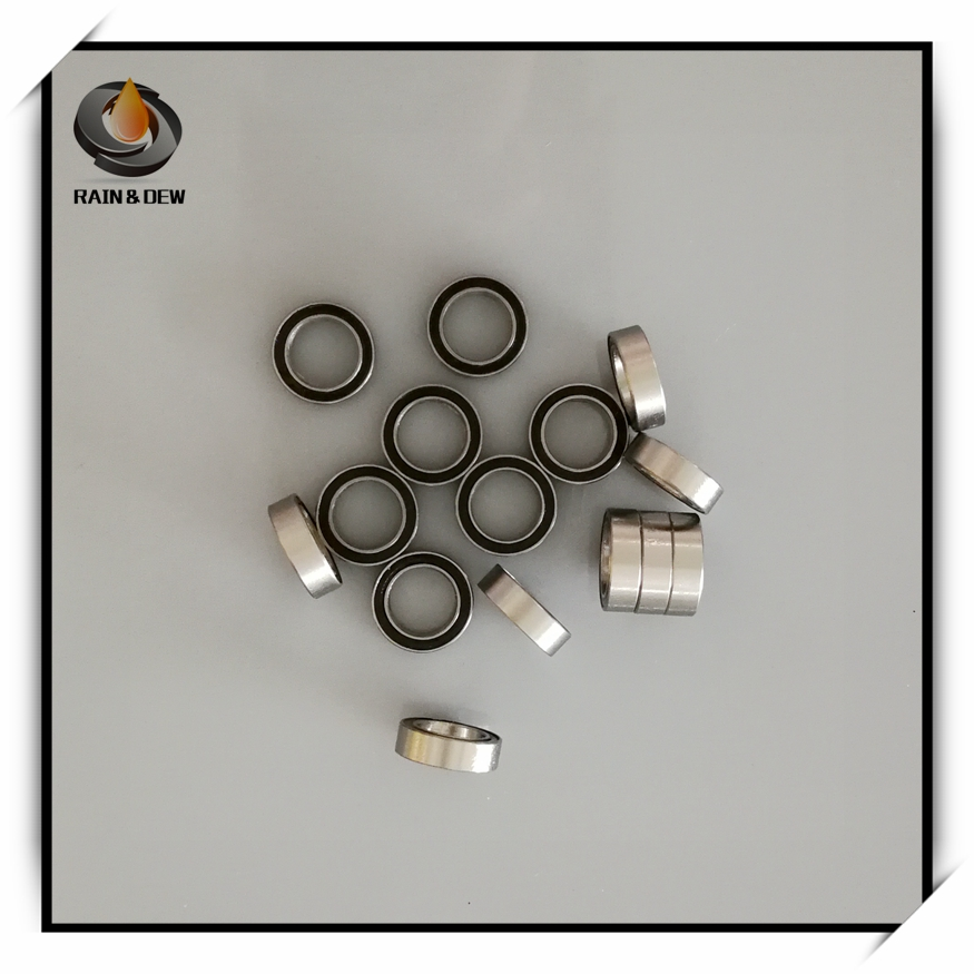 SMR128RS Stainless Bearing ABEC-7 (10PCS) 8*12*<font><b>3.5</b></font> <font><b>mm</b></font> Miniature SMR128-2RS <font><b>Ball</b></font> Bearings RS SMR128 2RS image