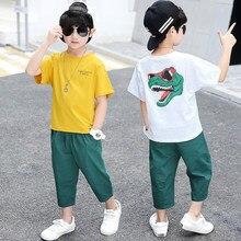 New Summer Boy Clothing Sets Children Short Sleeve T-Shirt +short Pants Kids Cartoon Suit 2pc Baby Boys Clothes Set