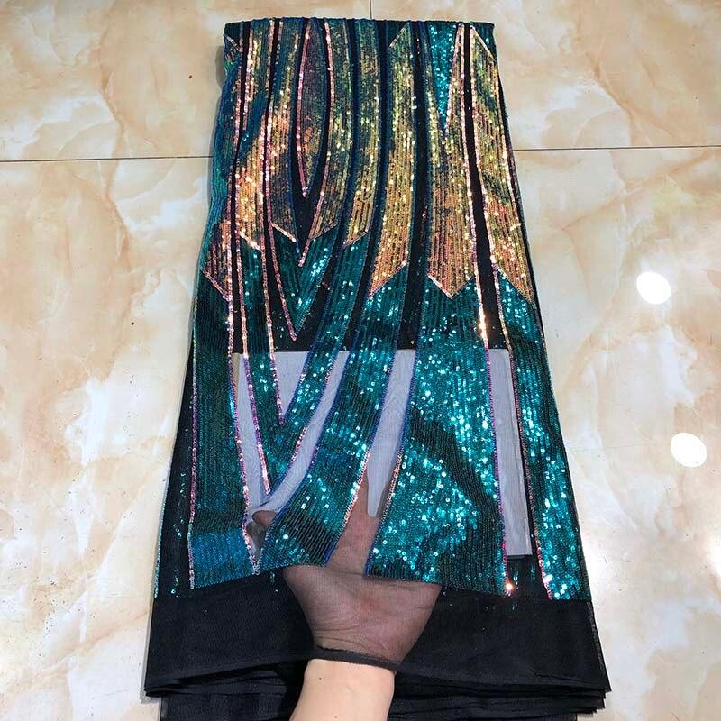 Afryki koronki tkaniny 2019 wysokiej jakości haftowane francuski tkanina z koronki tiulowej cekiny ślubne nigeryjski szwajcarski woal koronki tkaniny w Koronka od Dom i ogród na  Grupa 1
