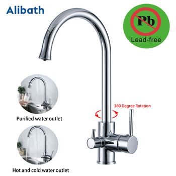 Kitchen Faucet with Filtered Water Double Spout Water Purification Solid Brass Kitchen Tap Sink Mixer Crane. gappo kitchen faucet with filtered water faucet tap kitchen sink faucet filtered faucet kitchen crane mxier taps torneira