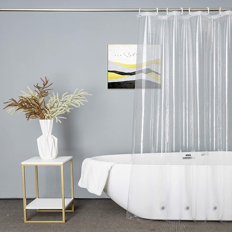 Shower Curtain Transparent Bath Curtain Waterproof White Plastic Shower Curtains Liner Home Bathroom Mildew PEVA Bath Curtains