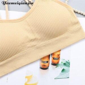 Image 5 - נשים חלקה Bandeau מכתב הדפסת רצועות חולצת סטרפלס סקסי הלבשה תחתונה קצוץ למעלה כושר חזיית חזייה אלחוטית ספורט למעלה תחתונים