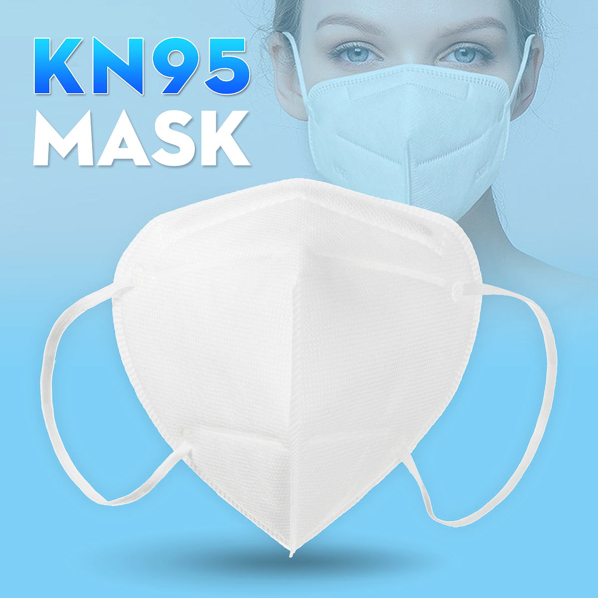 1Pcs N95 Mask Respirator Mask Air Filter Anti-Dust Anti Smog KN95 Masks Windproof Pm2.5 Safety Protective Mouth Face Mask