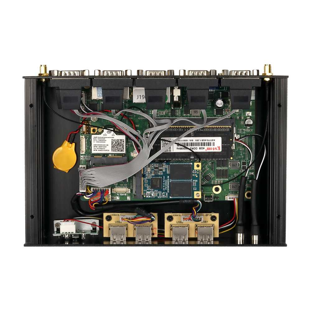 Fanless industrial mini pc intel core i7 4500u i5 4200u windows 10 linux 6xrs232 rs485 duplo nic hdmi vga 4g lte wifi 8xusb