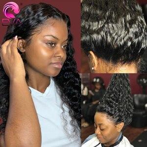 Perruques Full Lace wig Remy bouclées-Eva Hair   Perruques brésiliennes de cheveux naturels de bébé pre-plucked sans colle pour femmes