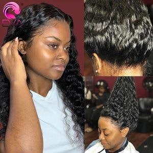 Perruques Full Lace wig Remy bouclées-Eva Hair | Perruques brésiliennes de cheveux naturels de bébé pre-plucked sans colle pour femmes