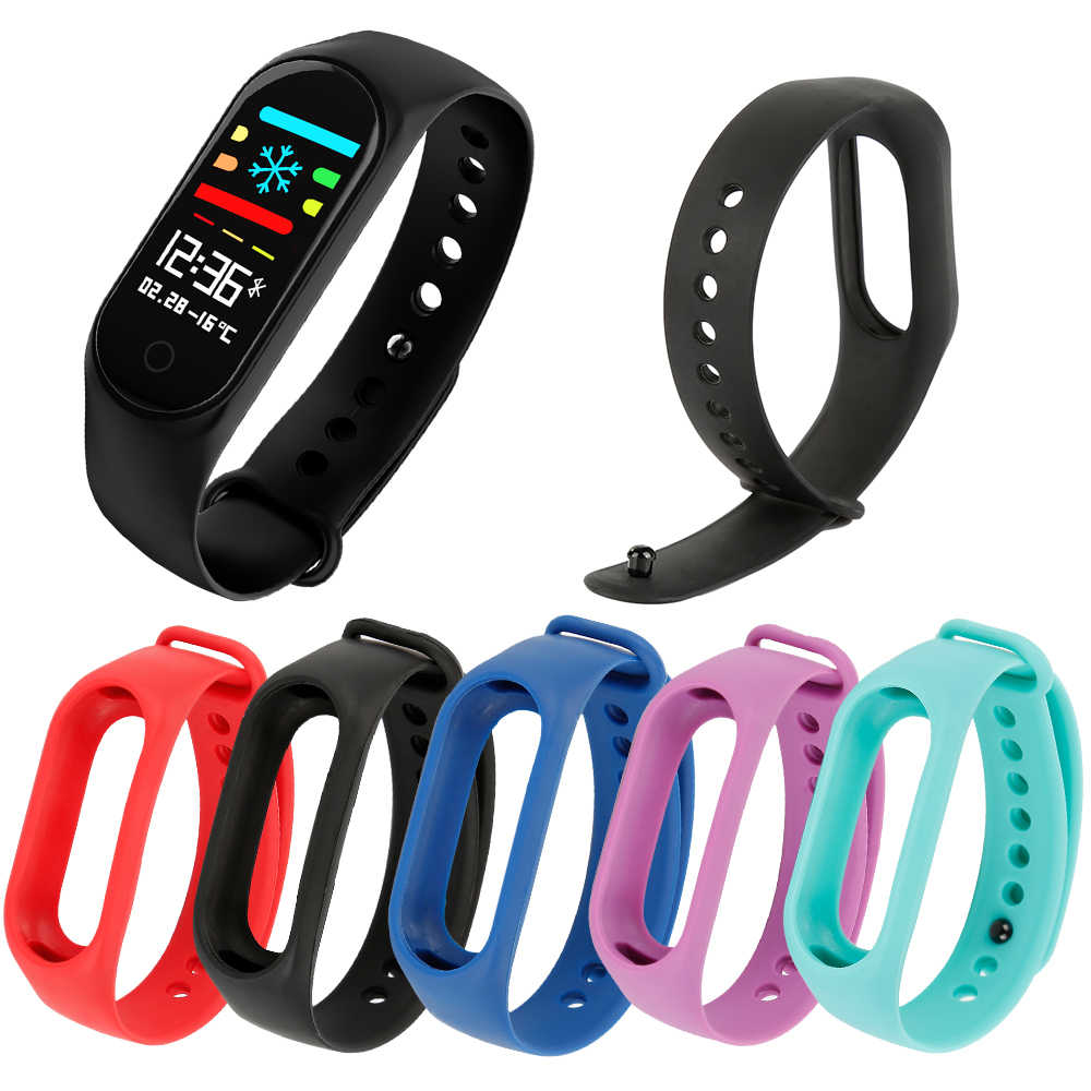Colorido Relógio De Fitness Esporte Cinta Edição para M3S Relógio Inteligente Substituição Alça de Pulso para Silicone Inteligente Pulseira Acessórios