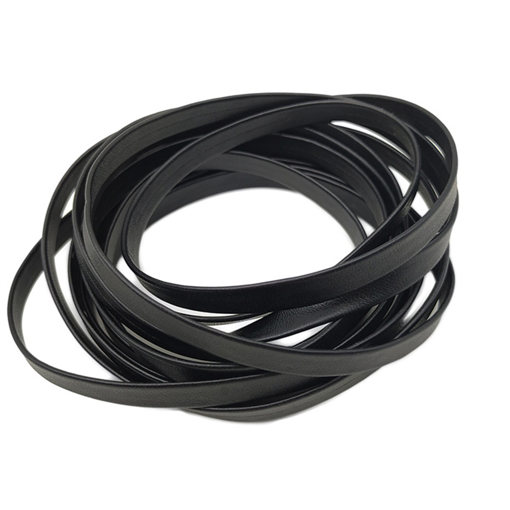 1 Pair 100cm Spare Solid Color Faux Leather Sports Wide Accessories Flat Shoe Laces Shopping Daily Long Strap Replacement