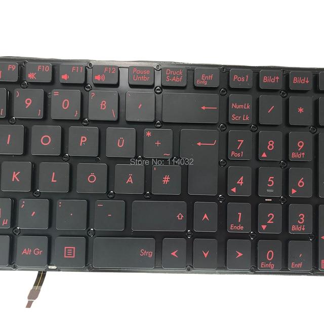 Replacement keyboards Q501 Backlight keyboard for ASUS Q501L Q501LA G501 GR GE German black KB red keys 0KNB0 662MGE00 Lowprice