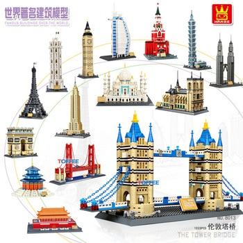 Compatible With Lepining City Architecture Taj Mahal London Paris Town Bridge Building Blocks Children Assemble Bricks Toys